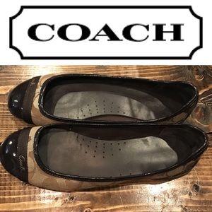 Coach Brown Logo Flats size 7M